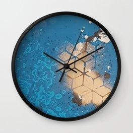 Cube Familiar Place - Made With Unicorn Dust by Natasha Dahdaleh Wall Clock