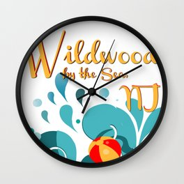 Oh Those Wildwood Daze Wall Clock