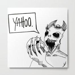Yahoo. Metal Print