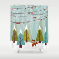winter Shower Curtains featuring Winter  by Kakel