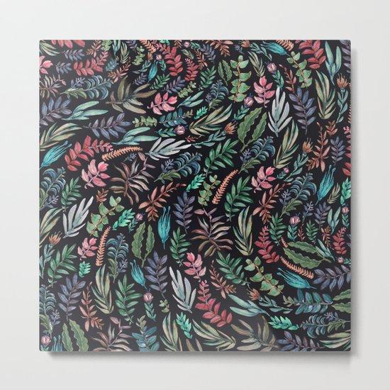 water color garden at nigth Metal Print