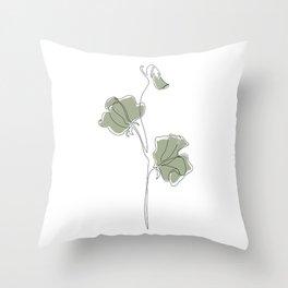 Matcha Sweet Pea Throw Pillow