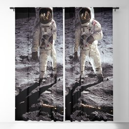 Apollo 11 - Iconic Buzz Aldrin On The Moon Blackout Curtain