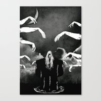 witchcraft Canvas Prints featuring Witchcraft by Merwizaur