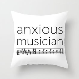 Anxious musician Throw Pillow