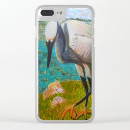 Egret Ready to Strike Clear iPhone Case