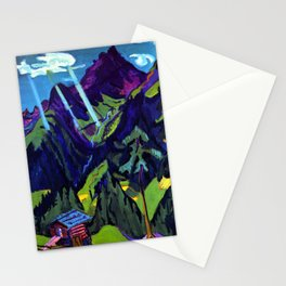 Mountain Landscape in the Sun by Ernst Ludwig Kirchner Stationery Cards