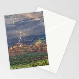 Lightning over Red Rock Wilderness Stationery Cards