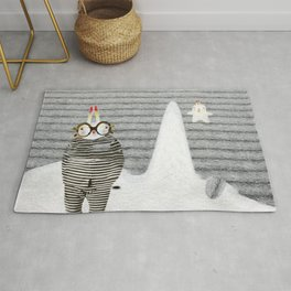 Time between rabbits, lies and truth Rug