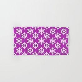 Ship Wheel (White & Purple Pattern) Hand & Bath Towel