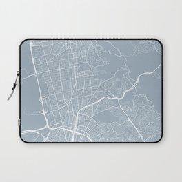Berkeley Map, USA - Slate Laptop Sleeve