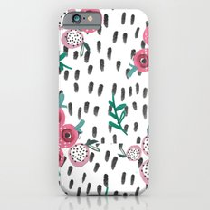 Rose. Illustration, pattern, print, floral design, art, painting, flowers, flower, Slim Case iPhone 6s