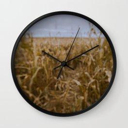 Blur Corn field Wall Clock
