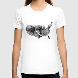 United States Print, Tree rings, Tree stump, Wood grain, Tree ring art T-shirt