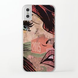 Comic girl affiche poster Clear iPhone Case