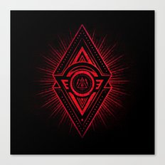 The Eye of Providence is watching you! (Diabolic red Freemason / Illuminati symbolic) Canvas Print