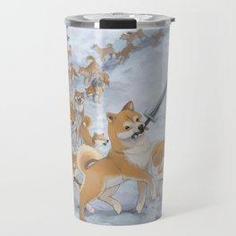 Cry Heckin' and Let Slip the Doges of War Travel Mug