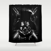 sith Shower Curtains featuring Sith Lord by Li.Ro.Vi