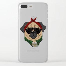 Thug Pug Clear iPhone Case