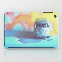 vw bus iPad Cases featuring Silver VW Bus by Anna Dykema Photography