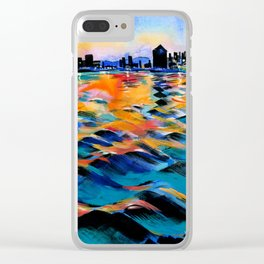 Seaport of Genoa, Italy Clear iPhone Case