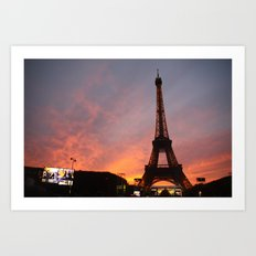 Mesmerized in Paris Art Print