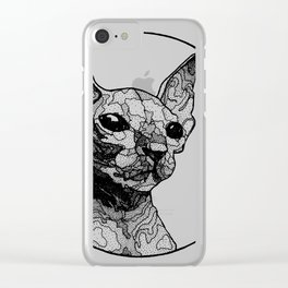 Inside out sphynx cat Clear iPhone Case