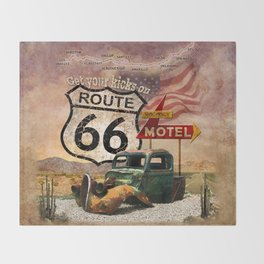 Get your Kicks on Route 66 Throw Blanket