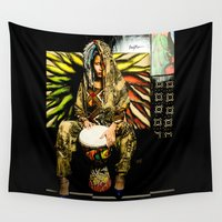 mother Wall Tapestries featuring Mother by NayMarie
