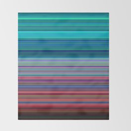 Blurry Saturn Stripes Throw Blanket