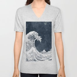 The Great Wave of a Star System Unisex V-Neck