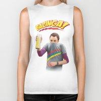 bazinga Biker Tanks featuring Sheldon  - BAZINGA! by ShannonPosedenti