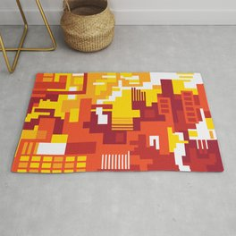Abstract Sun Day Rug