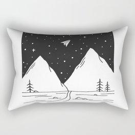 """""""Fly Away"""" - Paper Plane Landscape Rectangular Pillow"""