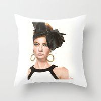 moschino Throw Pillows featuring Moschino Fall 2012 by Kafie Martin