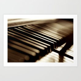 Musician play piano Art Print