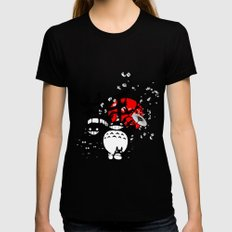 Japanese Spirits LARGE Womens Fitted Tee Black