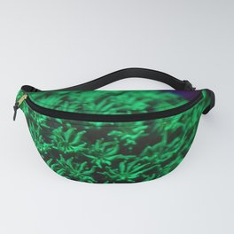 Fluorescent coral polyps reaching toward infinity Fanny Pack
