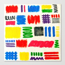 Dribble Scribble Canvas Print