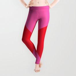 Minimal X Red & Pink Leggings