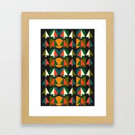 Retro Christmas trees Framed Art Print