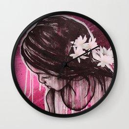 Fearless Flower Wall Clock