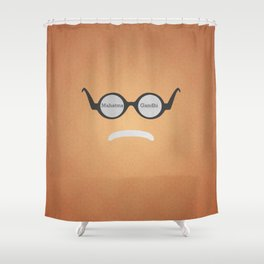 Mahatma Gandhi (Famous mustaches and beards) Shower Curtain