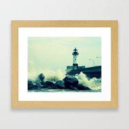 Breakwater Lighthouse - 2 Framed Art Print