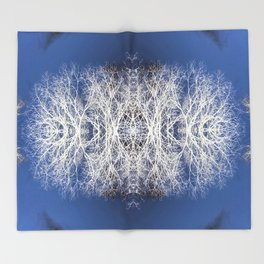 Silhouetted tree pattern Throw Blanket