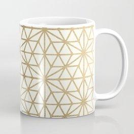 Modern geometric gold stars pattern on ivory Coffee Mug
