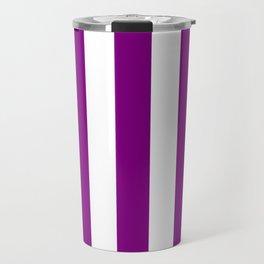 Philippine violet - solid color - white vertical lines pattern Travel Mug