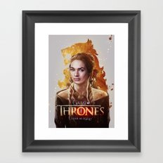 Cersei Framed Art Print