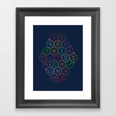 Written in the Stars Framed Art Print