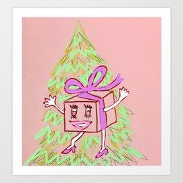 Happy Gift Art Print